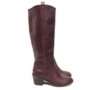 Lucky Brand LooLoo Brown Leather Knee High Boots